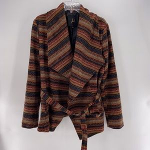 Jack BB Dakota Jacket Coat size Large Aztec Boho